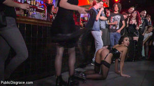 PUBLIC DISGRACE: October 3, 2016 – Steve Holmes, Pablo Ferrari, Melody Petite and Frida Sante/Underground Goth Club turns into a Wild Fuck Party!