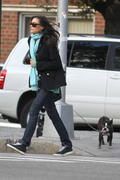 Famke Janssen walking her dog 23-10-2010