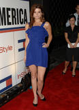 Joanna Garcia - Leggy blue dress.Tommy Hilfiger event.