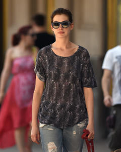 Anne Hathaway out & about in Brooklyn 07-06-2014